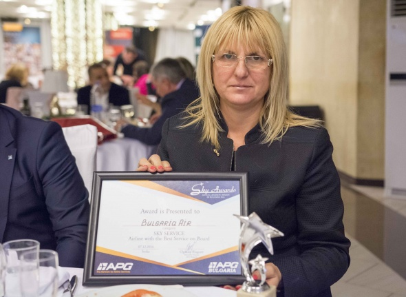 Bulgaria Air with awards for the most preferred airline and best service on board