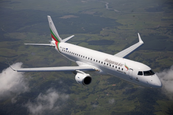 The fleet of Bulgaria Air has increased by a third aircraft Embraer E-190 LZ-BUR