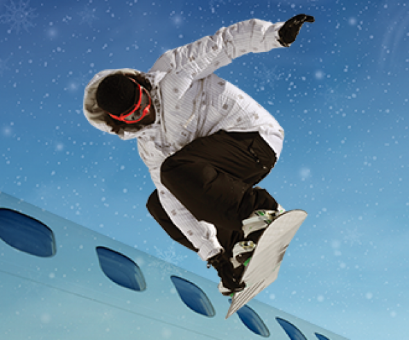 Bulgaria Air welcomes the winter with free transportation of ski or snowboard equipment