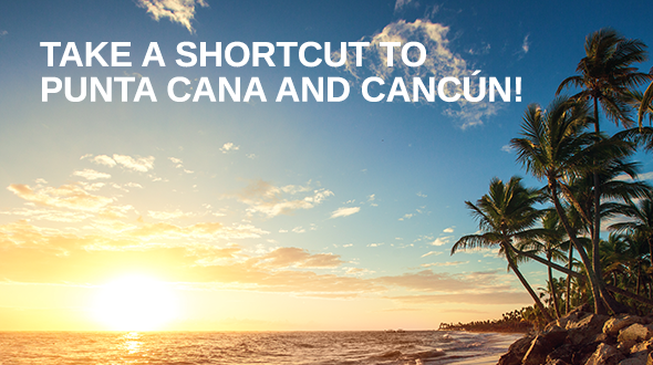 The shortest route to Punta Cana and Cancun is with Bulgaria Air and Condor flights