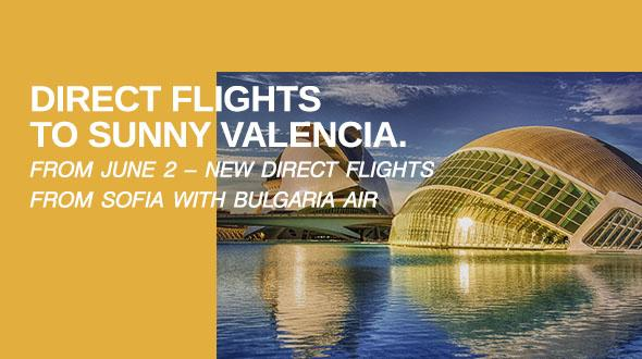 Bulgaria Air launches a new destination – Valencia, from June 2