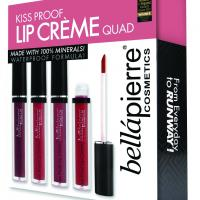 BELLAPIERRE KISS PROOF LIP CREME QUAD SET